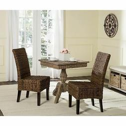 Safavieh Home Collection Avita Brown Wicker Dining Chair , 1