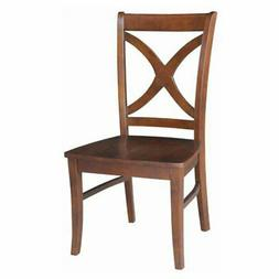 International Concepts Salerno Dining Chairs Wood Seat - Set