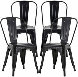 Metal Dining Chairs Set of 4 Metal Chairs Patio Chair Indoor