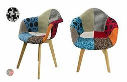 Set of 2 DELILAH Multi-Color Stylish Leisure Chair ideal for