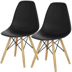 Set of 2 Dining Chair Side Lounge Stool w/ Back Modern Kitch