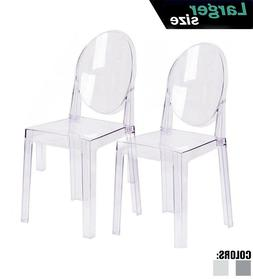 Set Of 2 Modern Transparent Acrylic Plastic Side Accent Dini