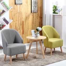 Set of 2 Space Saving Fabric Club Chair Accent Chairs Home W