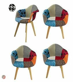 Set of 4 DELILAH Multi-Color Stylish Leisure Chair ideal for