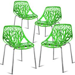 Set of 4 Dining Chair Birch Sapling Accent Armless Side Chai