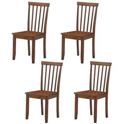 Set of 4 Dining Chairs Kitchen Spindle Back Side Chair w/Sol