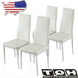 Set of 4 Dining Room Chairs Kitchen Chairs PU Leather Breakf