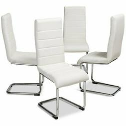 Baxton Studio Marlys Faux Leather Dining Chair in White