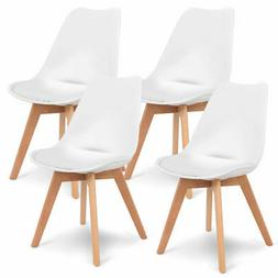 Set of 4 Mid Century Dining Chairs Modern DSW Armless Side C