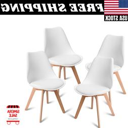 Set of 4 Mid Century Dining Side Armless Chairs DSW Modern S