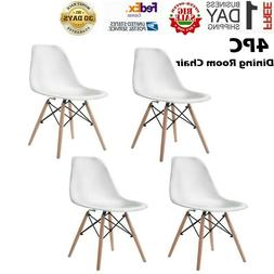 Set of 4 Mid Century Modern Style Chair DSW White Dining Sid