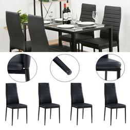 Set of 4 PU Leather Dining Side Chairs Elegant Design Home K