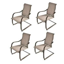 """Set of 4 Steel Gray 24"""" Dining Patio Chair Outdoor Low Maint"""