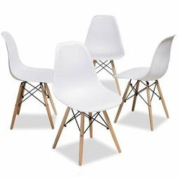 Baxton Studio Sydnea Acrylic Dining Side Chair in White
