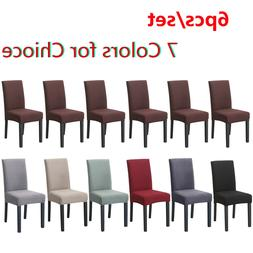 Set of 6 Chair Cover for Dining Room Wedding Banquet Stretch