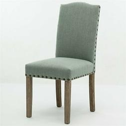 shawna upholstered dining side chair in green