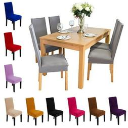 Solid Chair Covers Slipcovers For Kitchen Dining Room Weddin