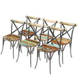 solid reclaimed wood dining chairs set of