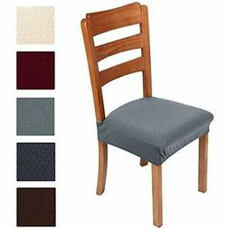Stretch Jacquard Chair Seat Covers For Dining Room, Removabl