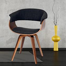 Armen Living LCSUCHWACH Summer Chair in Charcoal Fabric and
