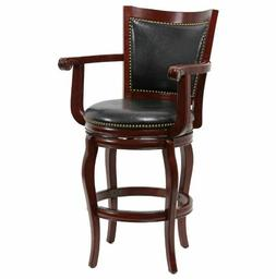 Swivel Bar Stool with Arms Pub Contemporary Memory Turn Uppe