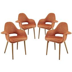 Taupe Dining Armchair - Set of 4 by Modway Orange