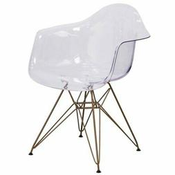 Transparent Plastic Chair Accent Side Desk Furniture Small W
