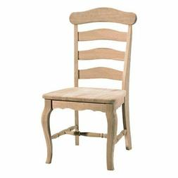 Unfinished Country French Chair