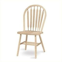 Unfinished Windsor Arrowback Chair with Plain Legs