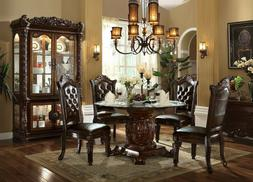Acme Furniture Vendome 5 Piece Pedestal Cherry Dining Room S