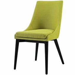Modway Viscount Fabric Dining Chair in Wheatgrass