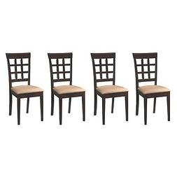 Coaster Home Furnishings Wheat Back Dining Room Chair w/Fabr