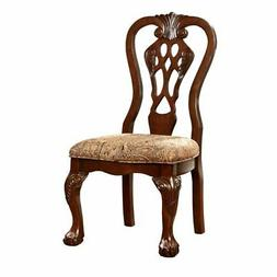 Furniture of America Wilson Dining Chair in Brown Cherry