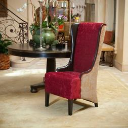 Winger Tall Wingback Accent Chair w/ Buttons Tufted Backrest