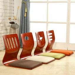 Wood Cushion Seat Chair For Living Room Furniture Asian Floo
