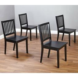 Wooden Dining Chairs Set of 4 Table Seating Wood Kitchen Fam