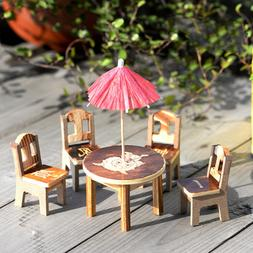 Wooden Table <font><b>Chair</b></font> Miniature Craft Dollh
