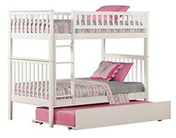 Atlantic Furniture Woodland Bunk Bed with Trundle Bed in Whi