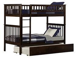Woodland Bunk Bed with Urban Trundle, Antique Walnut, Twin O