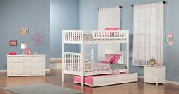 Woodland Bunk Bed Twin over Twin with Twin Size Raised Panel