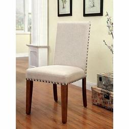 Furniture of America Workins Padded Side Dining Chairs - Set