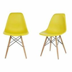 Yellow Plastic Dining Shell Chair  Yellow